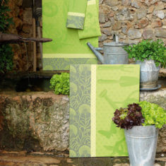 Torchon - Au jardin - vert pousse - Linge de maison cuisine