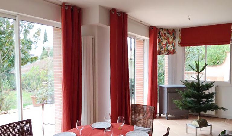 Voilage, rideaux et linge de table sur-mesure - Maison de Bouquières Toulouse