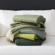 Plaids - Green throws